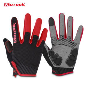 gants vtt canivtt long rouge doigts protege