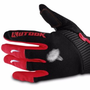 gants vtt canivtt long rouge respirant anti-transpirant