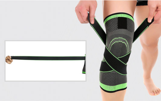 genouillere de renfort canicross protege genou en sangle