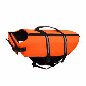 gilet de sauvetage pour chien orange profil