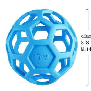 balle geometrique jw pour chien bleu grand chien