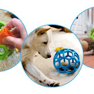 balle geometrique jw pour chien jouet pour chien