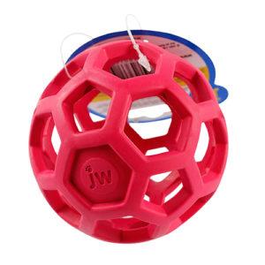 balle geometrique jw pour chien rouge