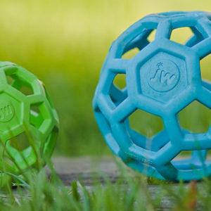 balle geometrique jw pour chien vert bleu