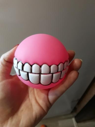 balle smile dog balle pour chien rose cocker