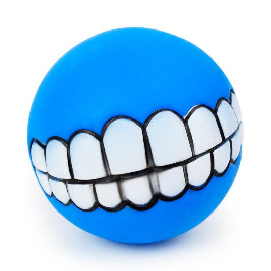 balle smile dog bleu