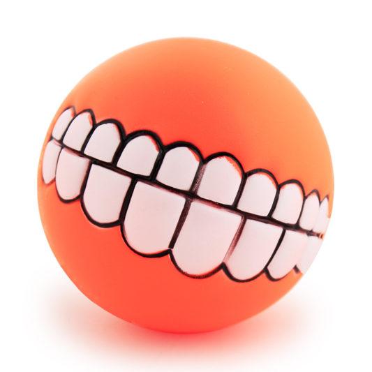 balle smile dog orange