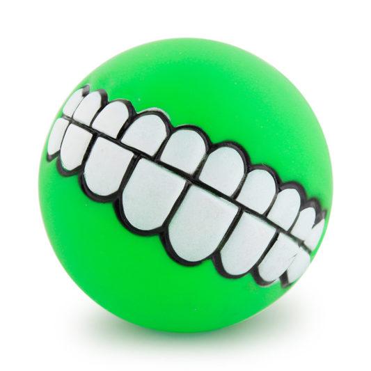 balle smile dog vert pomme