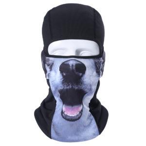 Cagoule hiver originale CHIEN visage chien imprimé protection froid tete