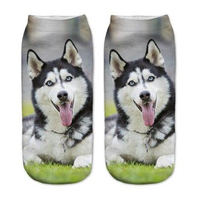 chaussettes femme chien husky imprime