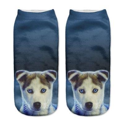 chaussettes femme chiot husky mode imprime