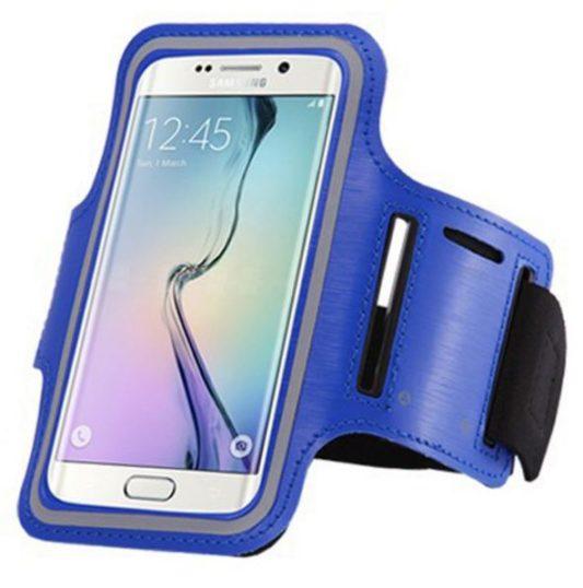 Brassard canicross smartphone bleu