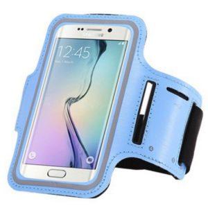 Brassard canicross smartphone bleu glacial