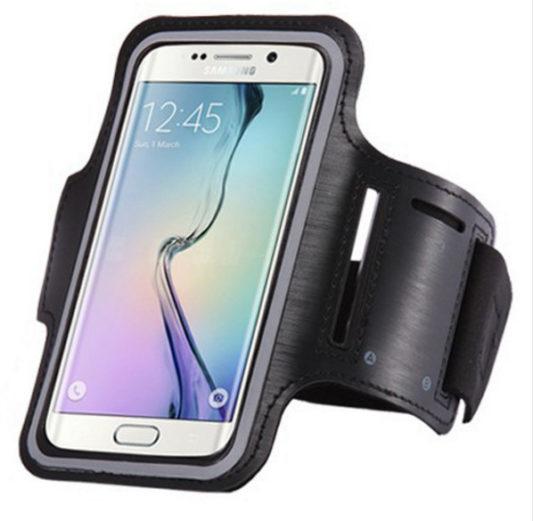 Brassard canicross smartphone noir