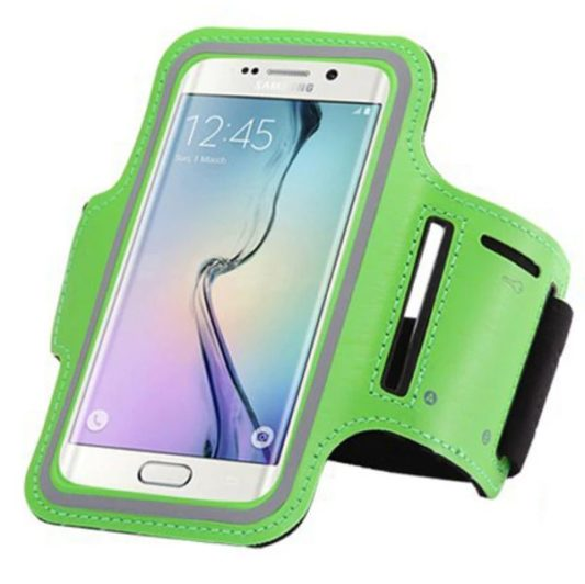 Brassard canicross smartphone vert pomme