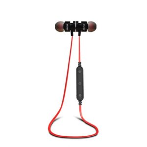 Ecouteurs bluetooth canicross, running, sport rouge