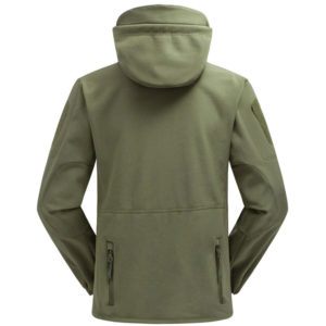 veste softshell outdoor impermeable technique back vert