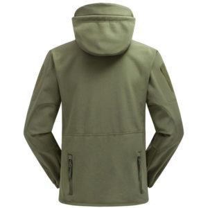 veste softshell outdoor impermeable technique back vert