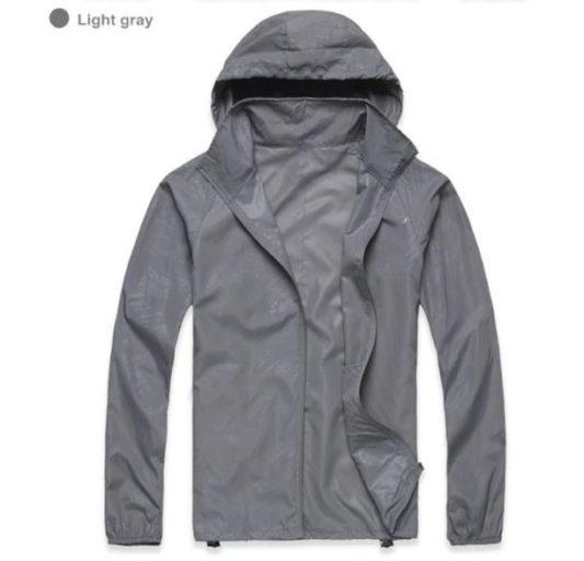 K-Way, veste imperméable ultra légère gris