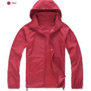 K-Way, veste imperméable ultra légère rouge