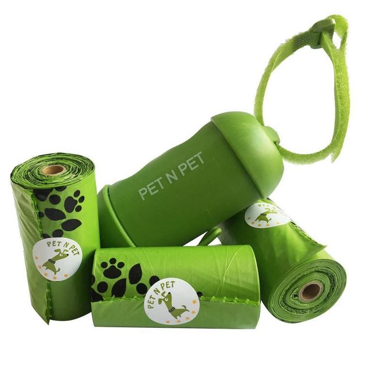 distributeur sac a crotte biodegradable pour chien avec recharge rouleau