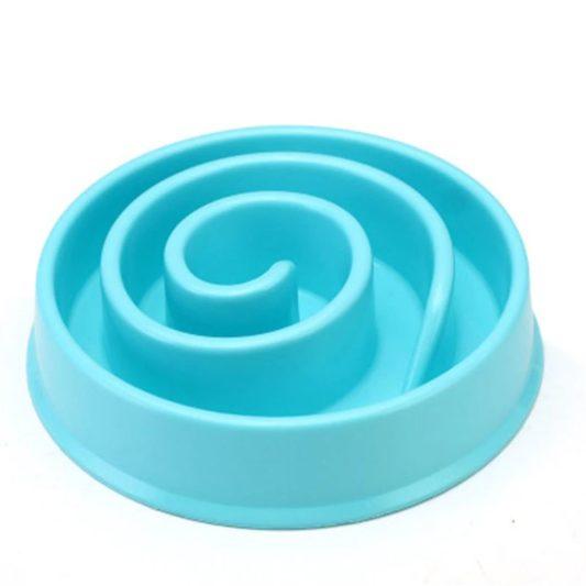 gamelle anti glouton chien mange trop vite bleu glacial