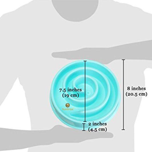 gamelle anti glouton chien mange trop vite taille