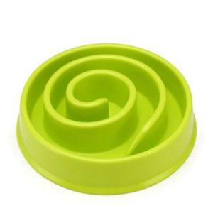 gamelle anti glouton chien mange trop vite vert pomme