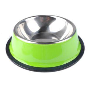 gamelle pour chien coloree en acier inoxydable vert pomme
