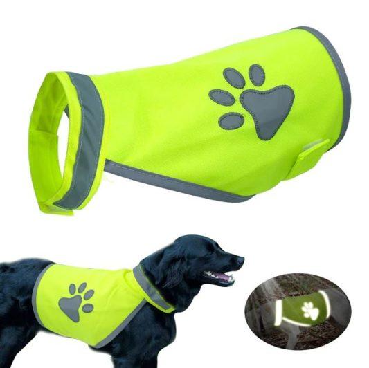 gilet jaune pour chien sécurité