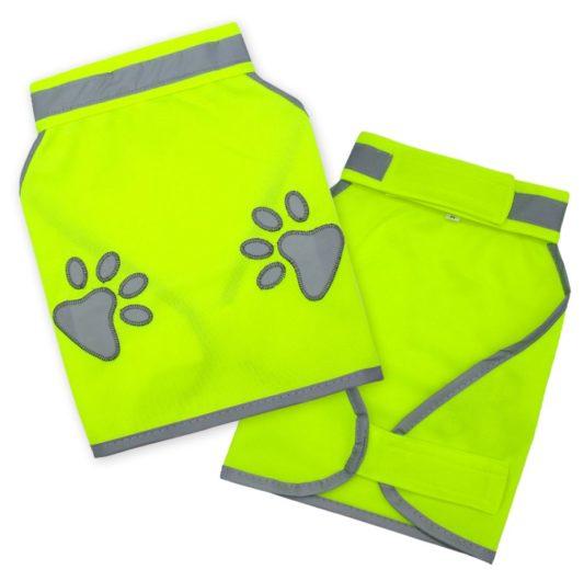 gilet jaune pour chien sécurité patte de chien