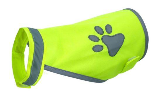 gilet jaune pour chien sécurité reflechissant
