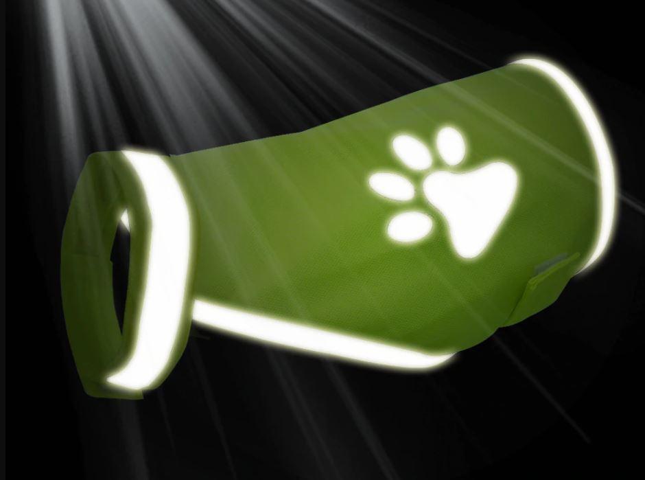 gilet jaune pour chien sécurité reflechissant nuit nocturne