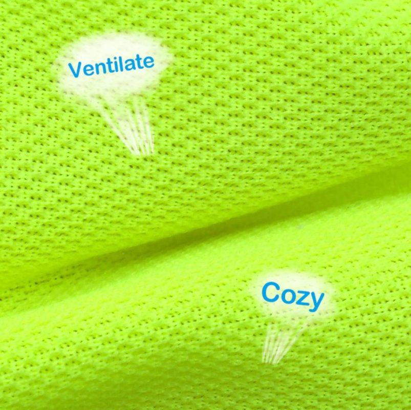 gilet jaune pour chien textile respirant