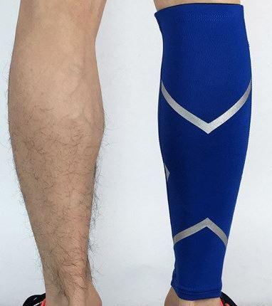 guetre compression reflectactive bleu