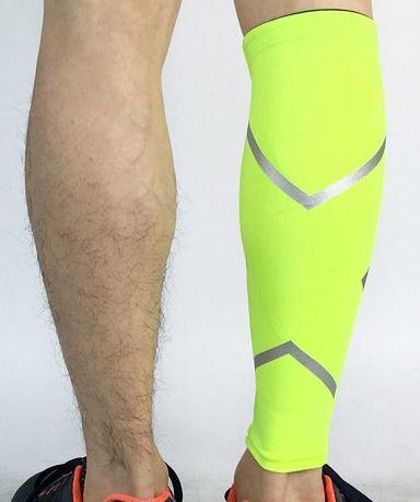 guetre compression reflectactive jaune