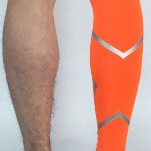guetre compression reflectactive orange