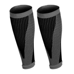 manchons de compression running gris