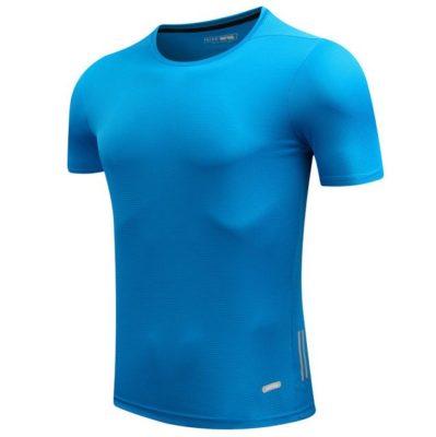 tshirt running canicross canitrail bleu glacial