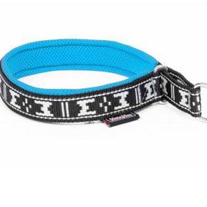 collier chien rembourre martingale bleu glacial